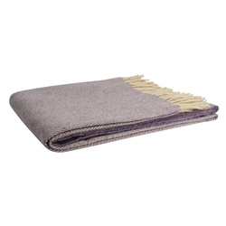 Magee Clothing Magee Lilac and Cream Herringbone Throw