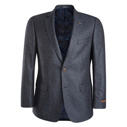 Magee 1866 Navy Tan & White Micro Design Classic Fit Blazer