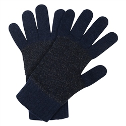 Magee 1866 Navy & Blue Micro-Design Knit Lambswool Gloves