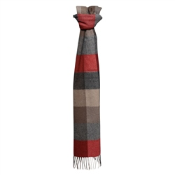 Magee Clothing Luxury Cashmere Checked Scarf