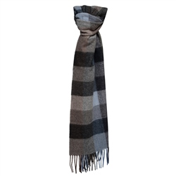 Magee Clothing Navy, Blue and Camel Checked Scarf