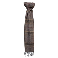 Magee Clothing Luxury Blue/Grey Check Lambswool Scarf