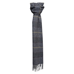 Magee Clothing Luxury Blue/Navy Lambswool Scarf