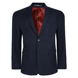 Magee Clothing Navy Cotton Tailored Fit Blazer