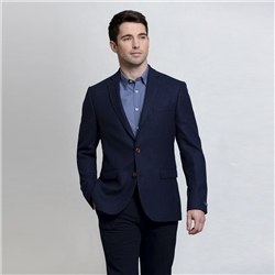 Magee Clothing Navy & Blue Geometric Design Tailored Fit Blazer