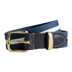 Magee 1866 Men's Bredon Luxury Navy & White Belt