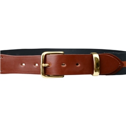 Bredon Luxury Navy & Orange Belt