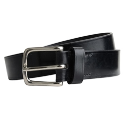 Magee 1866 Men's Broadway Luxury Black Leather Belt