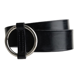 Magee 1866 Luxury Leather Black Ring Belt