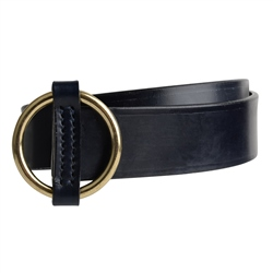 Magee 1866 Luxury Leather Navy Ring Belt