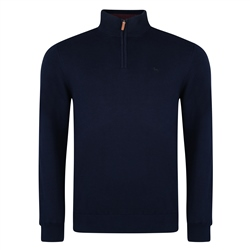 Magee 1866 Navy Carn 1/4 Zip Sweater
