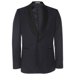 Magee 1866 Navy Shawl Collar Dinner Suit Tailored Fit Blazer