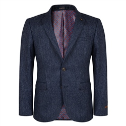 Magee Clothing Blue Salt & Pepper Tailored Fit 3 Piece Suit