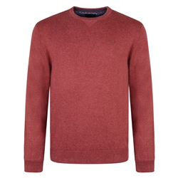 Magee 1866 Rust Carn Cotton Crew Neck Sweater