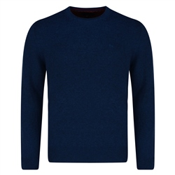 Magee 1866 Blue Lunniagh Crew Neck Classic Fit Jumper