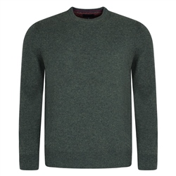 Magee Clothing Olive Lunniagh Crew Neck Classic Fit Jumper