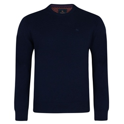 Magee Clothing Navy Lunniagh Crew Neck Classic Fit Jumper