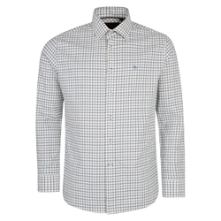 Magee Clothing Cream, Blue & Navy Ardara Tattersall Checked Classic Fit Shirt