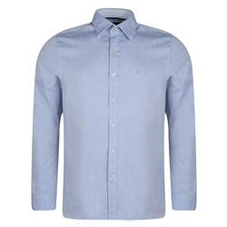 Magee 1866 Light Blue Kinnego Geometric Diamond Print Tailored Fit Shirt