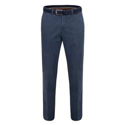 Magee Clothing Blue Dungloe Washed Look Classic Fit Trouser