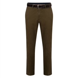 Magee 1866 Brown Dungloe Washed Look Classic Fit Trouser