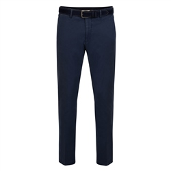 Magee 1866 Blue Braide Washed Look Slim Fit Trousers