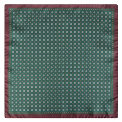 Magee 1866 Green & Brown Micro Design Pocket Square