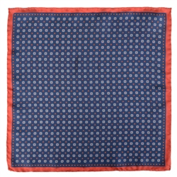Magee 1866 Blue Micro Design Silk Pocket Square
