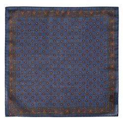 Magee 1866 Blue Micro Design Pocket Square