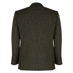 Green Salt & Pepper Handwoven Donegal Tweed Classic Fit Jacket
