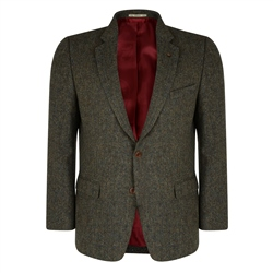 Magee 1866 Green Salt & Pepper Handwoven Donegal Tweed Classic Fit Jacket