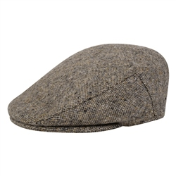 Magee 1866 Oat Salt & Pepper Donegal Tweed Cap