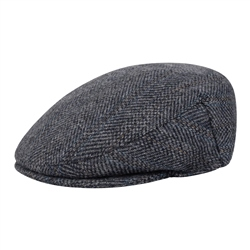 Magee 1866 Blue Herringbone Donegal Tweed Cap