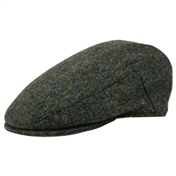 Magee 1866 Green Salt & Pepper Donegal Tweed Cap