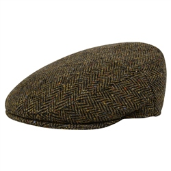 Magee 1866 Green Herringbone Donegal Tweed Cap