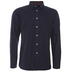 Magee Clothing Navy Concealed Button Down Classic Fit Shirt
