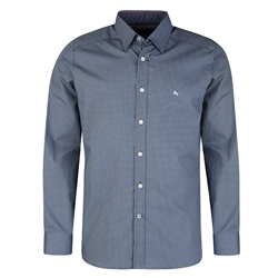 Magee Clothing Blue Ramelton Geometric Print Tailored Fit Shirt