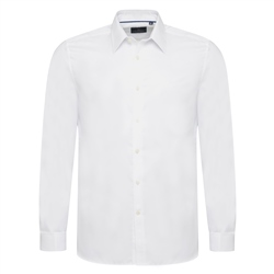 Magee 1866 White Cotton Twill Double Cuff Formal Classic Fit Shirt