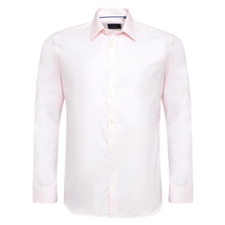 Pink Formal Tailored Fit Dress Collar Shirt