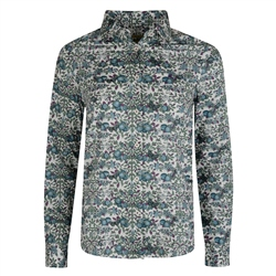 Magee 1866 Green, Purple & Cream Liberty Print Shirt