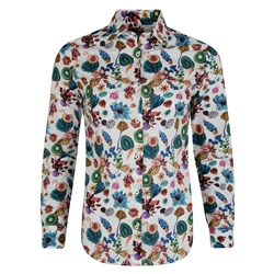 Magee 1866 Floral Earth Liberty Print Shirt