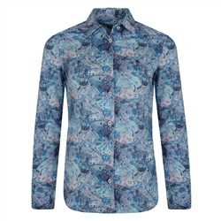 Magee 1866 Blue, Purple & Cream Liberty Print Shirt