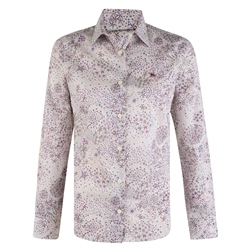 Magee 1866 Lilac & Purple Liberty Print Tailored Fit Shirt