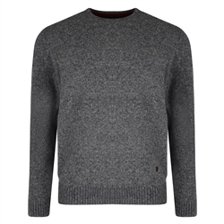 Magee 1866 Doagh Grey Donegal Fleck Crew Neck Jumper