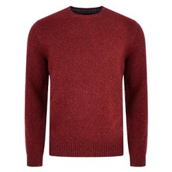 Magee 1866 Doagh Red Lambswool Donegal Fleck Crew Neck Jumper
