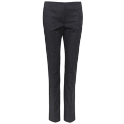Magee 1866 Navy Jacquard Print Tailored Fit Fahan Trousers