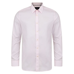 Pink Formal Classic Fit Dress Collar Shirt