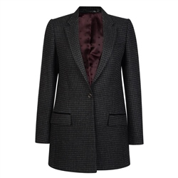 Magee 1866 Black & Grey Houndstooth Moyne Jacket