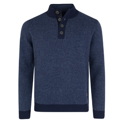 Magee 1866 Adertole Lambswool Classic Fit 1/4 Button Jumper