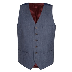 Magee 1866 Blue Mix & Match 3-Piece Classic Fit Waistcoat